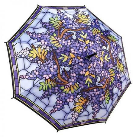 Stained Glass Wisteria Umbrella