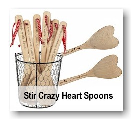 Stir Crazy Heart Spoons