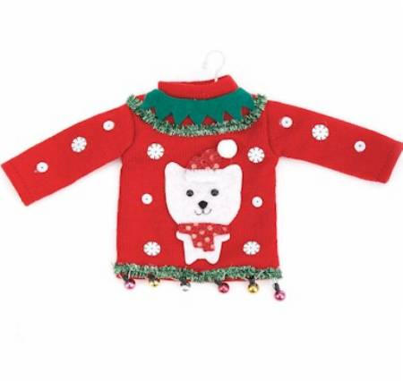 Cat Ugly Sweater Ornament_MAIN