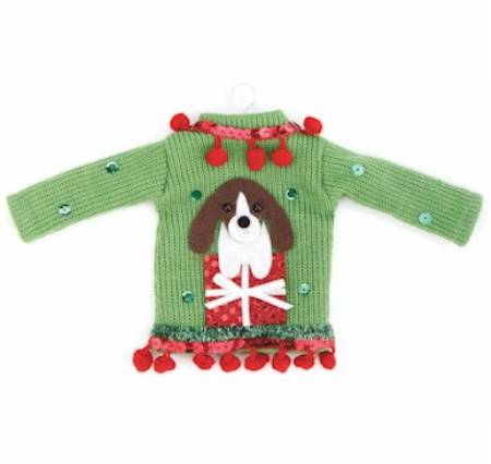 Dog Ugly Sweater Ornament MAIN