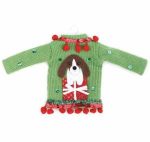 Dog Ugly Sweater Ornament