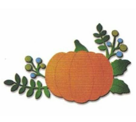 Pumpkin with Berries Magnet LARGE