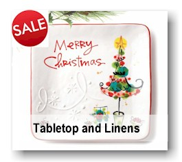 Tabletop and Linens - Christmas