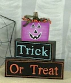 Jack-o-Lantern Trick or Treat Block Set