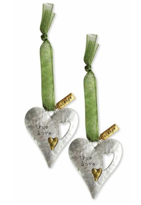 Metal ornament set for sentimental gift giving LARGE