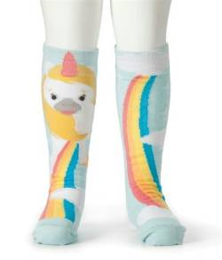 Unicorn and Rainbow Knee Socks