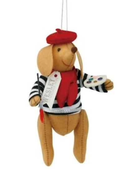 Wesley the Wiener-Dog Parisian Ornament LARGE