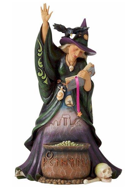 Scary Witch with Cauldron LARGE