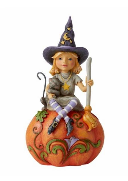 Witch Sitting on Pumpkin LARGE