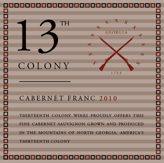 Copy of <b>Thirteenth Colony</b></br>Cabernet Franc</br>2010