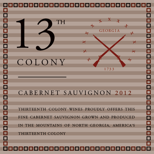 <b>Thirteenth Colony</b></br>Cabernet Sauvignon</br>2012