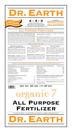 25lb Dr Earth Organic 7 All Purpose Fertilizer LARGE