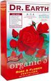 Dr Earth Organic 3 Rose & Flower Fertilizer 5-7-2