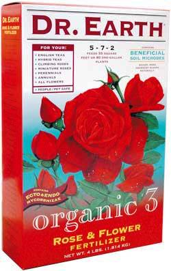 4lb Dr Earth Organic 3 Rose & Flower Fertilizer 5-7-2 LARGE