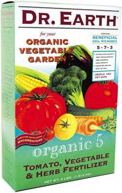 4lb Dr Earth Organic 5 Tomato, Vegetable & Herb Fertilzer LARGE