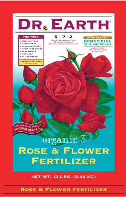 12lb Dr Earth Organic 3 Rose & Flower Fertilizer 5-7-2