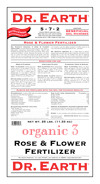 25lb Dr Earth Organic 3 Rose & Flower Fertilizer 5-7-2
