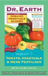 12lb Dr Earth Organic 5 Tomato, Vegetable & Herb Fertilizer THUMBNAIL