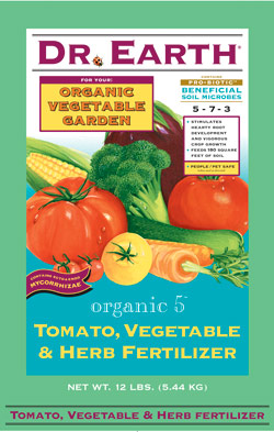 12lb Dr Earth Organic 5 Tomato, Vegetable & Herb Fertilizer LARGE