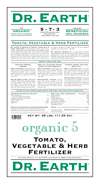25lb Dr Earth Organic 5 Tomato, Vegetable & Herb Fertilzer THUMBNAIL