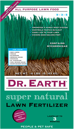 18lb Dr Earth Super Natural Lawn Fertilizer