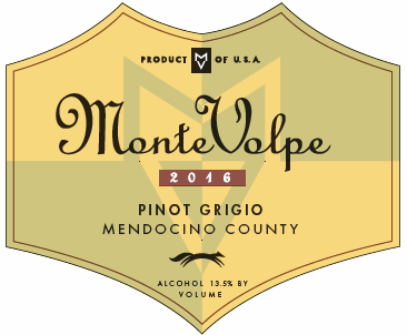 2016 Monte Volpe Pinot Grigio