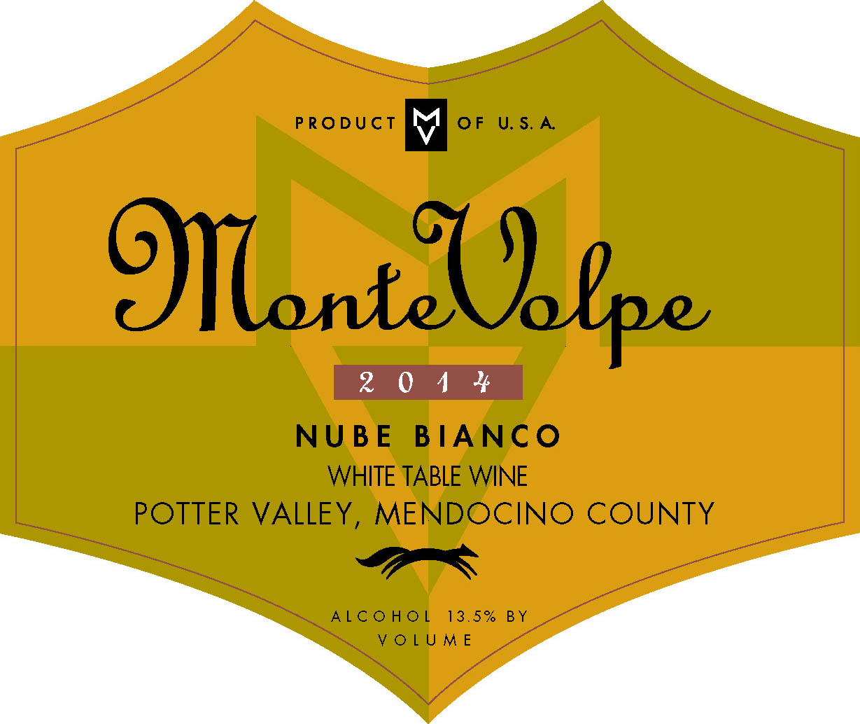 2014 Monte Volpe Nube Bianco