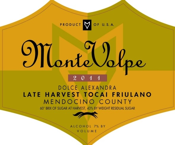 2011 Monte Volpe Late Harvest Tocai Friulano THUMBNAIL