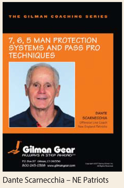Coaching Series Instructional DVD: 7, 6, 5 Man Protection Systems and Pass Pro Techniques- Dante Scarnecchia, New Englan LARGE