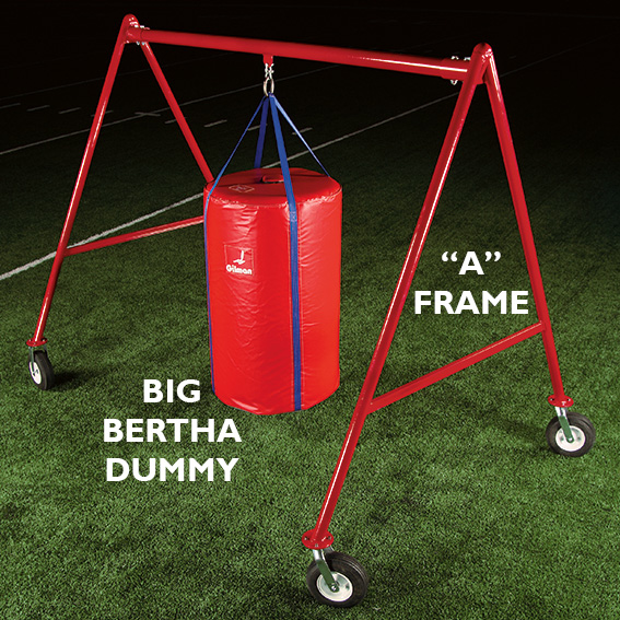 A Frame football dummy frame