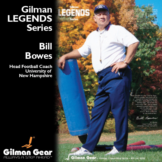 Bill Bowes, Head Football Coach, Indiana University, Gilman Legends Poster_LARGE