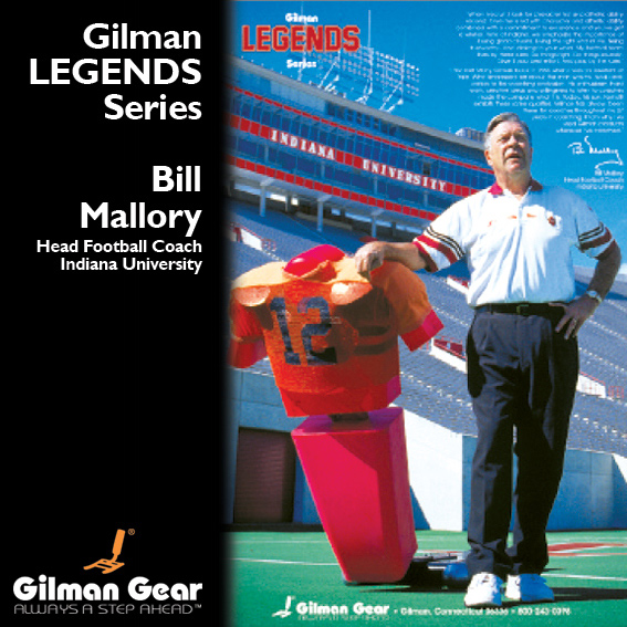 Bill Mallory, Head Football Coach, Indiana University, Gilman Legends Poster