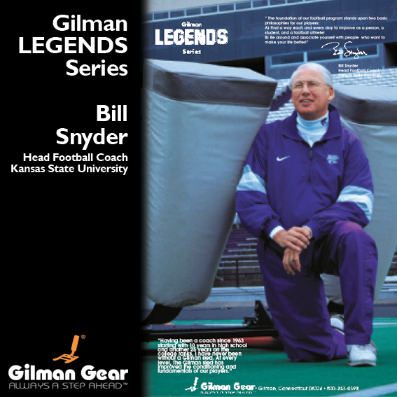 Bill Snyder, Head Football Coach, Kansas State University, Gilman Legends Poster_LARGE