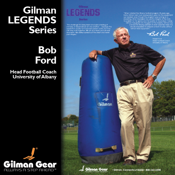 Bob Ford, Head Football Coach, University of Albany, Gilman Legends Posters