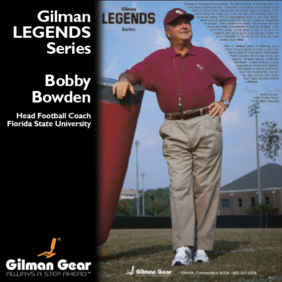 Bobby Bowden, Head Football Coach, Florida State University, Gilman Legends Poster