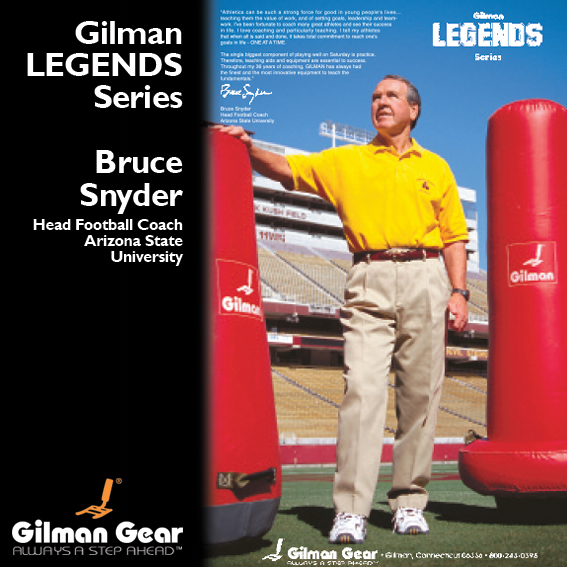 Bruce Snyder, Head Football Coach, Arizona State University, Gilman Legends Posters