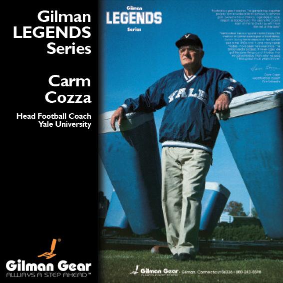 Carm Cozza, Head Football Coach, Yale University, Gilman ...