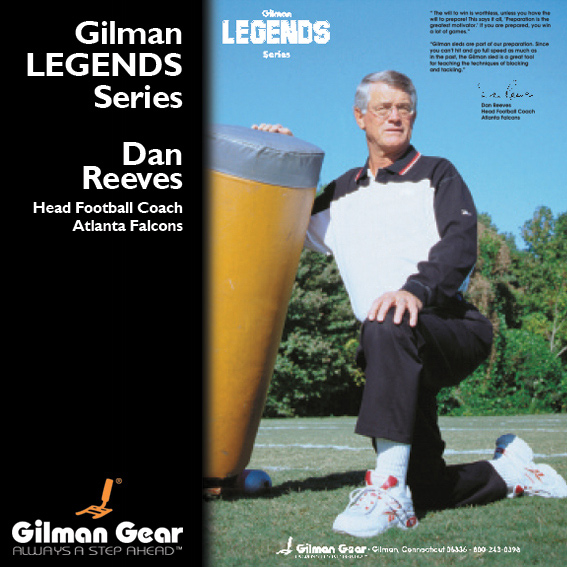 Dan Reeves, Head Football Coach, Atlanta Falcons, Gilman Legends Posters