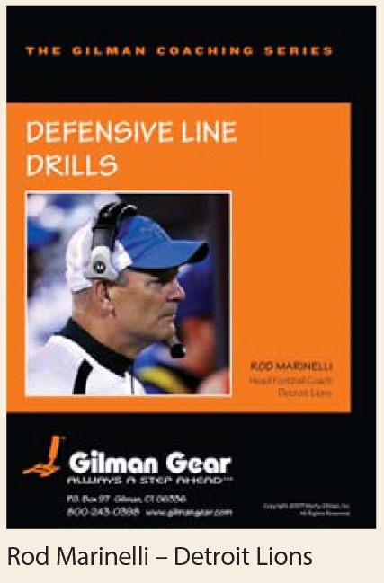 Coaching Series Instructional DVD: Defensive Line Drills- Rod Marinelli, Detroit Lions LARGE