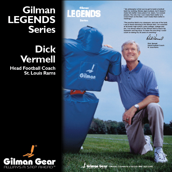 Dick Vermell, Head Football Coach, St Louis Rams, Gilman Legends Posters