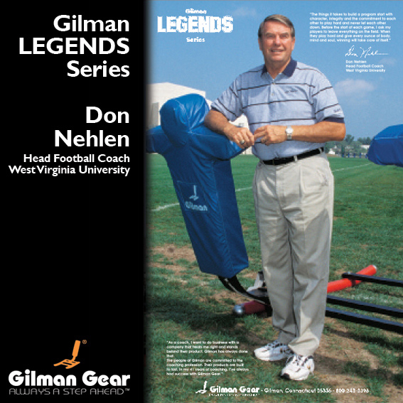 Don Nehlen, Head Football Coach, West Virginia University, Gilman Legends Posters