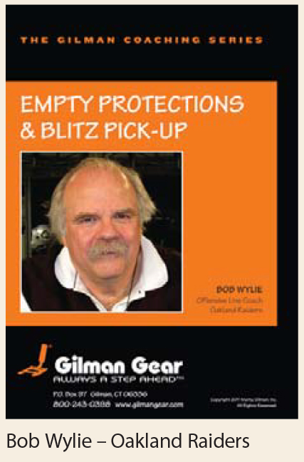 Coaching Series, Instructional DVD: Empty Protections & Blitz Pick-Up- Bob Wylie, Oakland Raiders LARGE