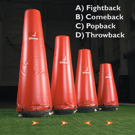 Popback Dummy - football dummy - pop-up dummy THUMBNAIL