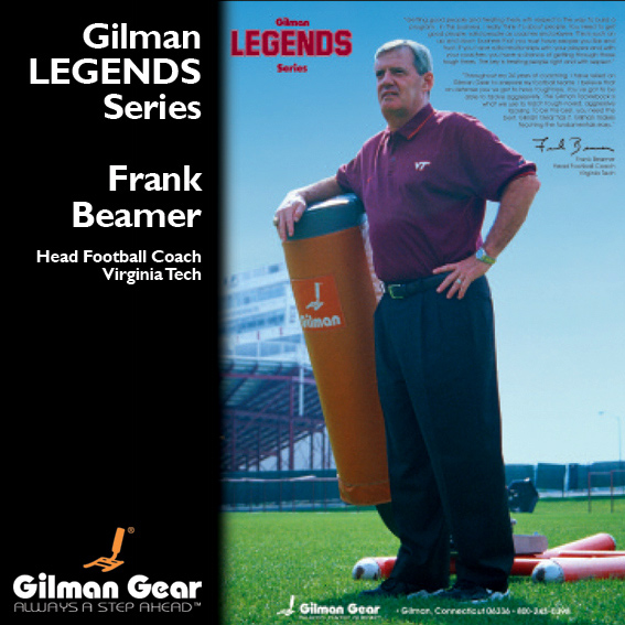 Frank Beamer, Head Football Coach, Virgina Tech, Gilman Legends Posters LARGE