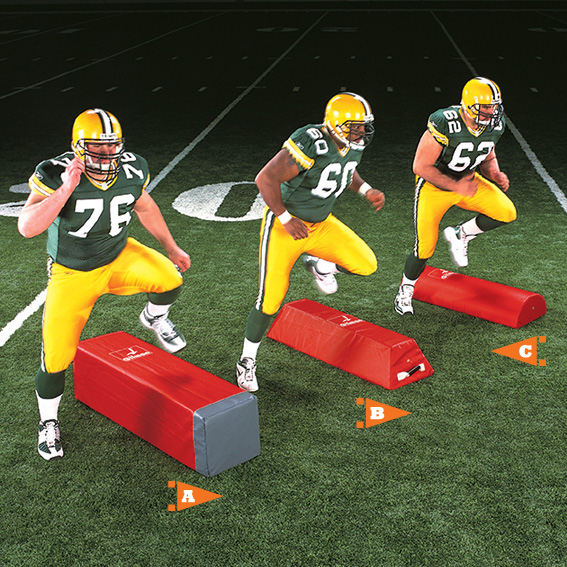 Fullback Step-Over Dummy for football - stepover dummy THUMBNAIL