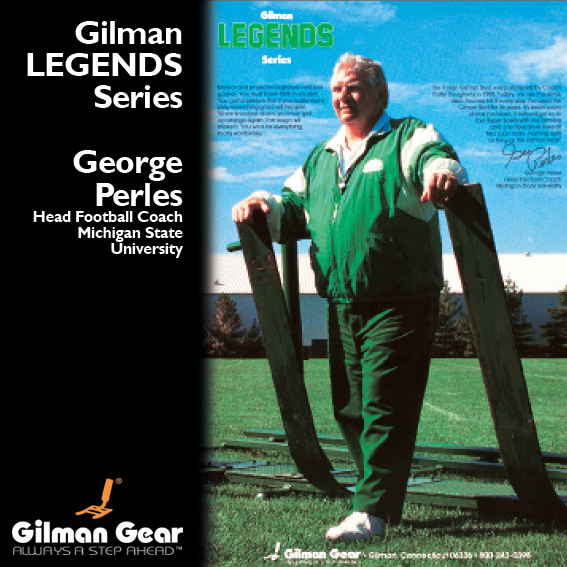 George Perles, Head Football Coach, Michigan State University, Gilman Legends Posters LARGE