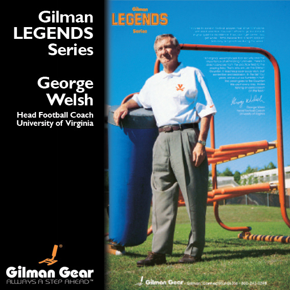 George Welsh, Head Football Coach, University of Virginia, Gilman Legends Posters