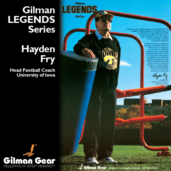 Hayden Fry, Head Football Coach, University of Iowa, Gilman Legends Posters