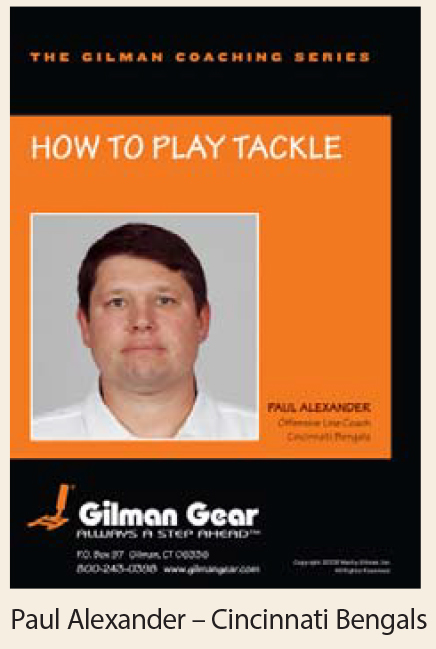 Coaching Series, Instructional DVD: How To Play Tackle, Paul Alexander, Cincinnati Bengals