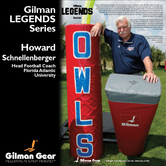 Howard Schnellenberger, Head Football Coach, University of Delaware, Gilman Legends Posters